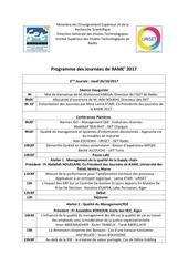 programme rame 2017 1