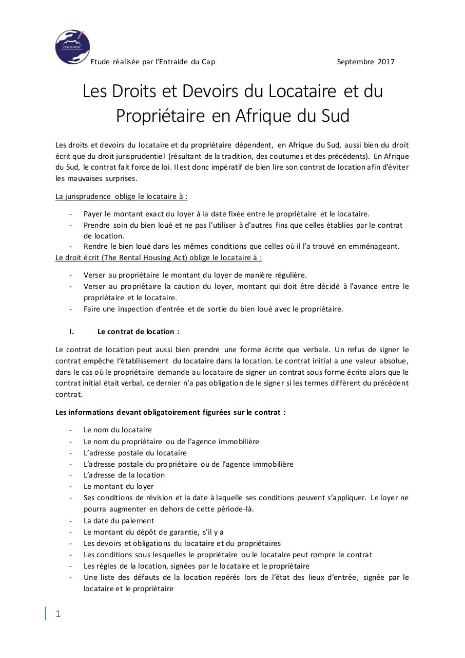 Contrat de location sign lamine zenati fichier pdf - Droit et devoir du locataire ...
