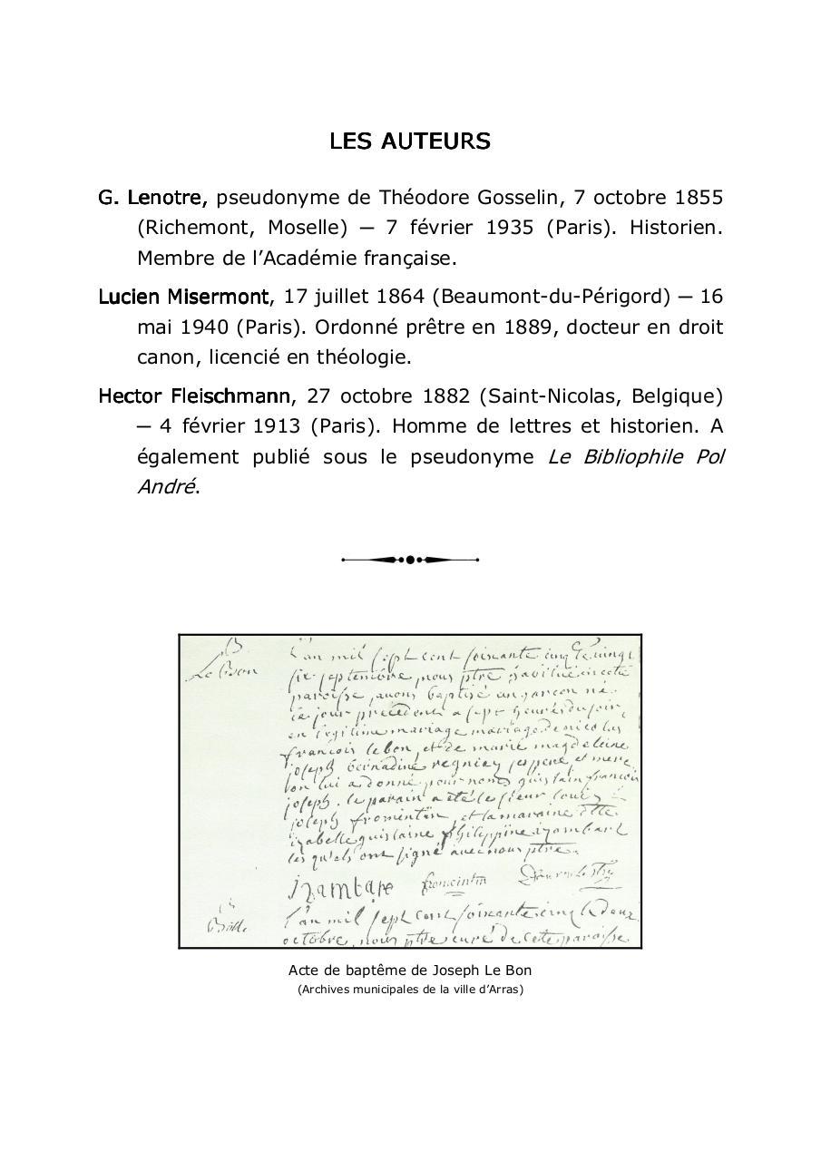 Le Conventionnel Joseph Le Bon Doc Par Georges Le Conventionnel