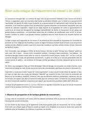 bilan auto critique du mouvement loi travail 1 2016