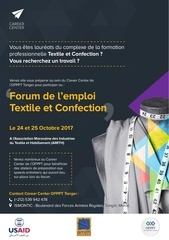 flyer forum textile tanger