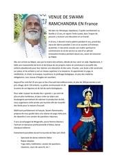 venue de swami ramchandra en france