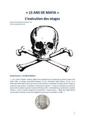 15 ans de mafia l execution des otages occidentaux