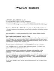 Fichier PDF reglement wowpark toussaint