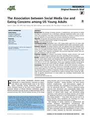 social media use and eating concerns among us young adults 1