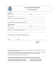 formulaire de procuration