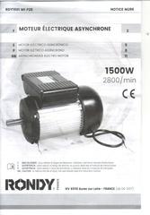 moteur rondy rdy1501 m1 p28 2800tr 220v 2cv