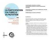 la participation culturelle en mutation bellavance 2011