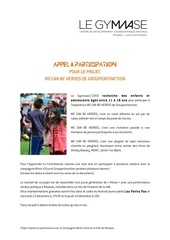 appel a participation wcbh