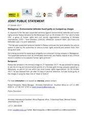 joint public statement raleva sentence