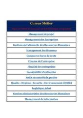 cursus metier p p
