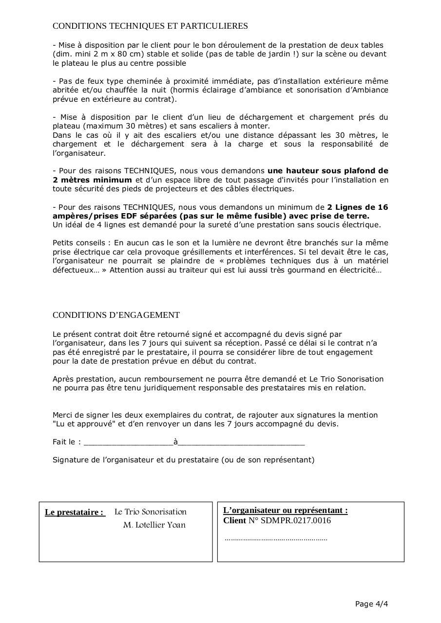 Contrat De Prestation N 021700160001 Du 04 08 18 Par Utilisateur