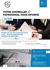 newsletter 4eme trimestre 2017