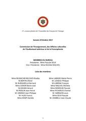 rapport commission enseignement octobre 2017 mme seux