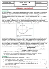 serie 6 interaction gravitationnelle