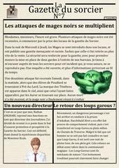 Fichier PDF la gazette du sorcier n 7