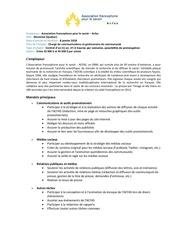chargecommunications gestionnairecommunaute