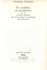 Fichier PDF gershom scholem du frankisme au jacobinisme