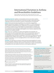 international variation asthma bronchiolitis guidelines