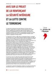 ldh antiterroriste