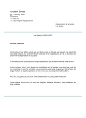Fichier PDF lettre de motivation