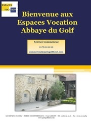brochure abbaye du golf