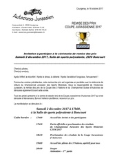 invitation soiree remise des prix 2017