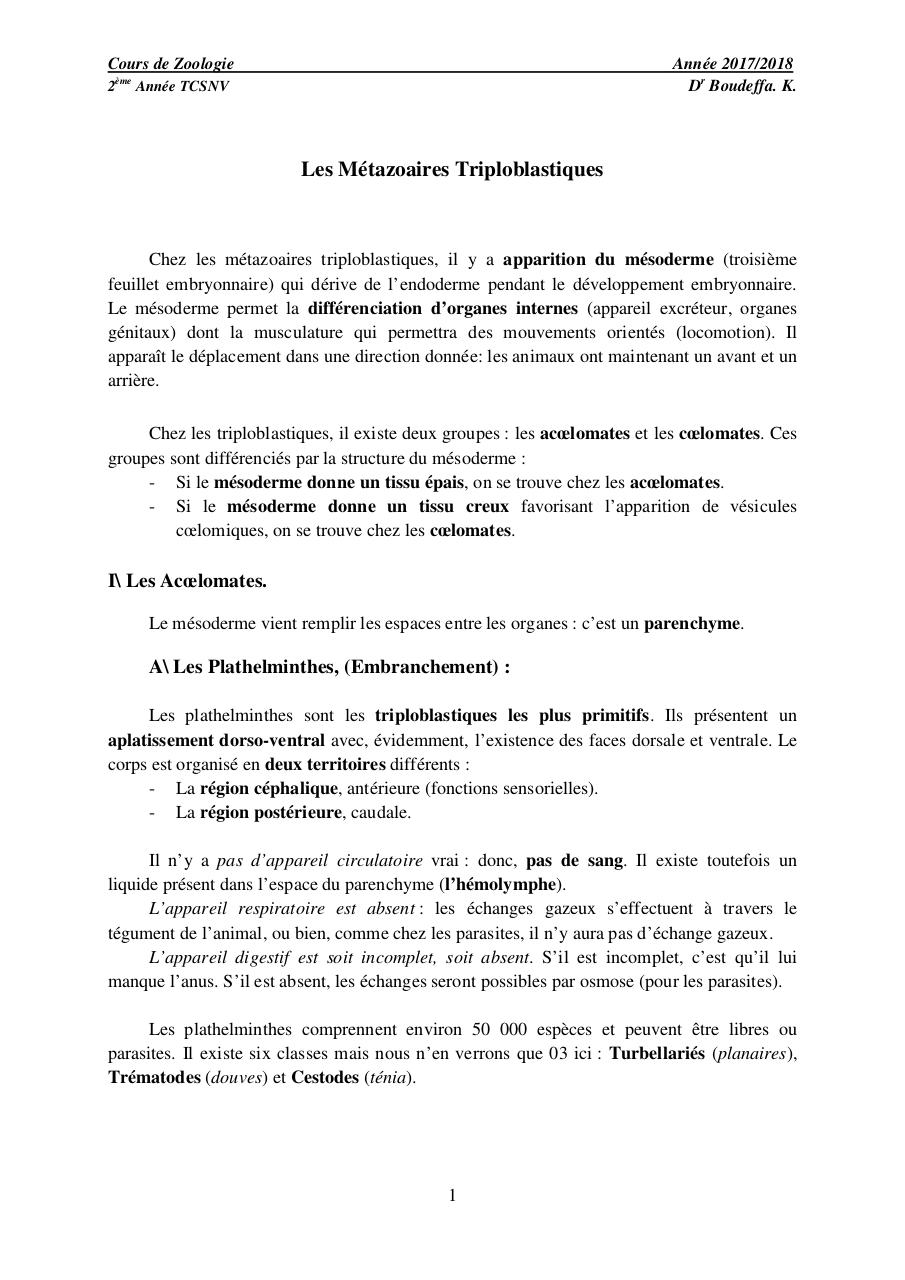 Aperçu du document les Plathelminthes.pdf - page 1/7