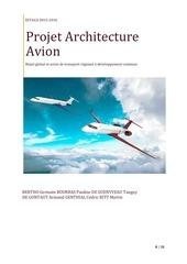 rapport architecture aeronautique 1
