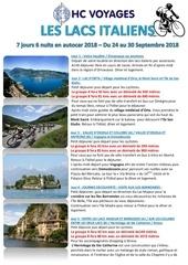 programme lacs italiens