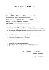 Fichier PDF demande de recrutement