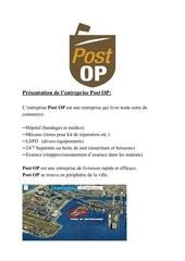 Fichier PDF projet d entreprise post op