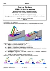 test statique 2014 2015 correction