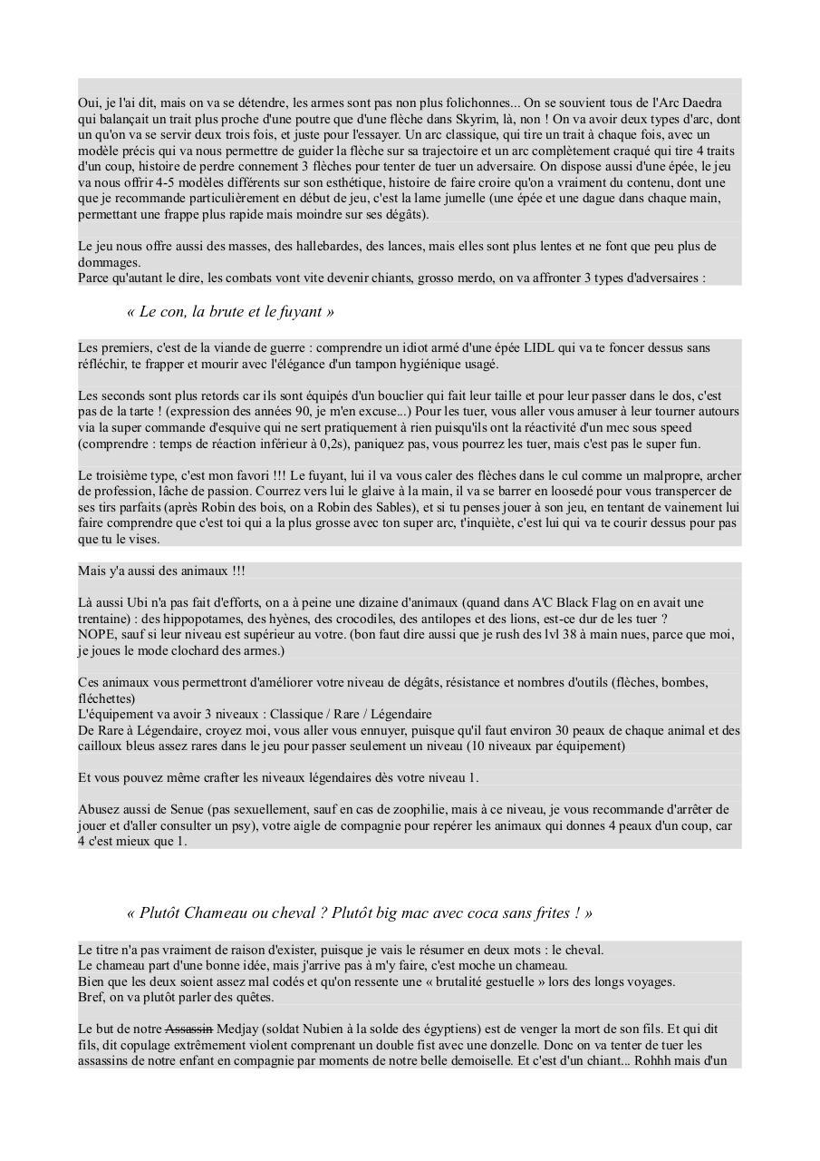 Assassin S Creed Origins Par Pierre Fichier Pdf