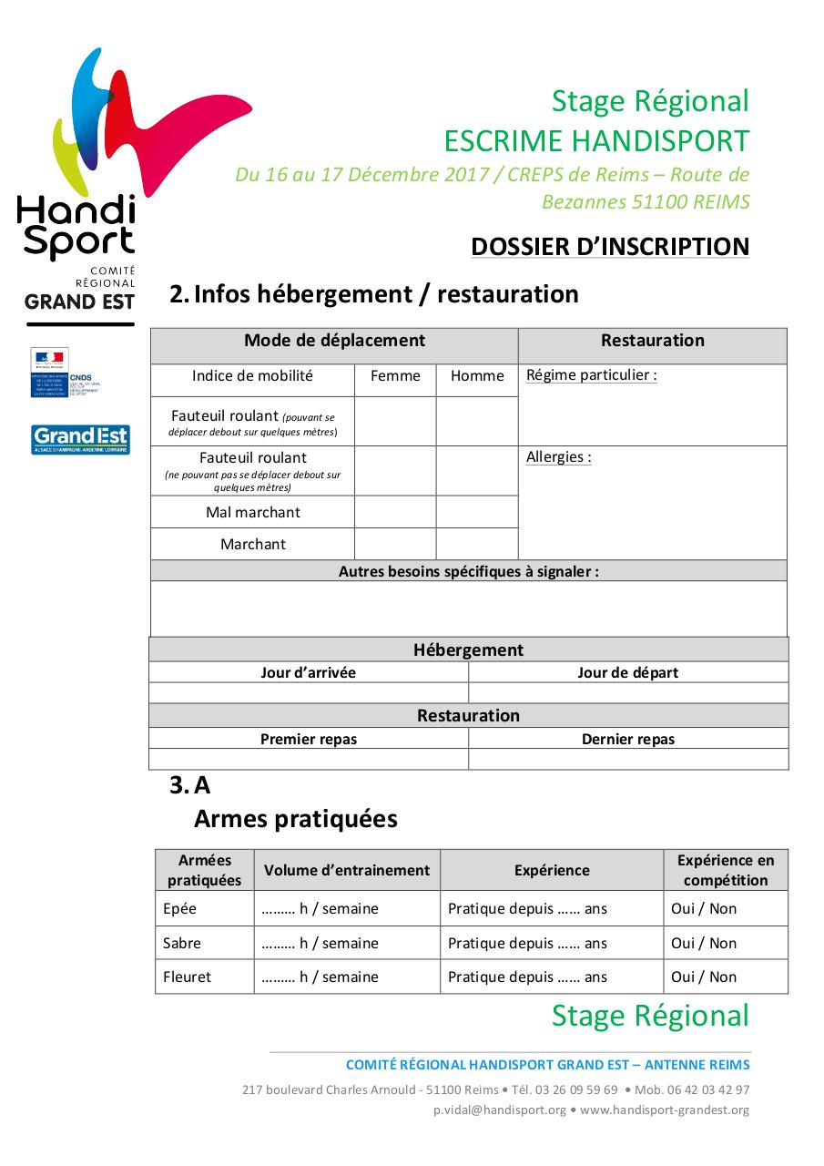 Dossier inscription - Stage Escrime.pdf - page 3/4