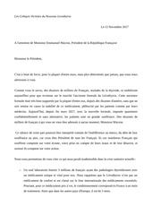 lettre a emmanuel macron