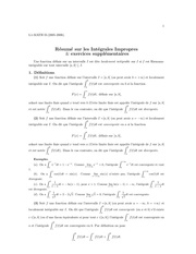 resume integ generalise