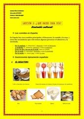 contenido cultural las comidas en espana