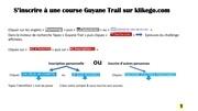 s inscrire a une course guyane trail sur klikego