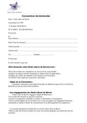 contrat de benevolat