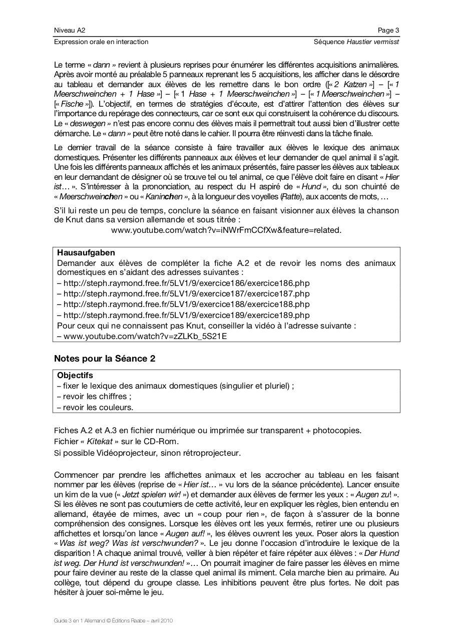 All 00 Page Gardedoc Par Utilisateur Séquence A2 Tier Vermisst