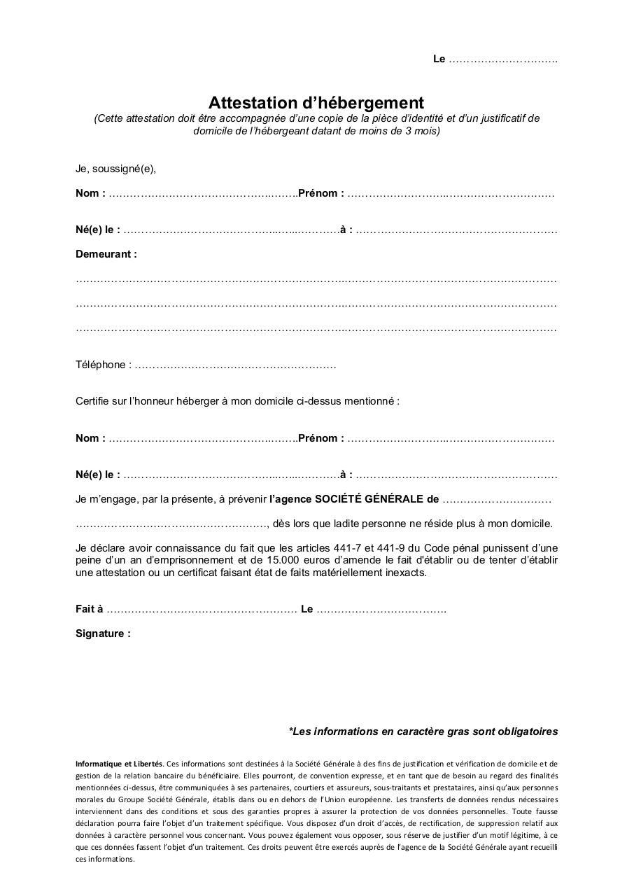 Declaration Sur L Honneur Pdf