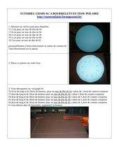 Fichier PDF tutoriel chapeau a bourrelets en tissu polaire