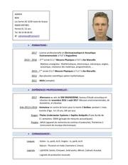 Fichier PDF cv 2017