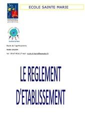 reglement d etablissement 2017 2