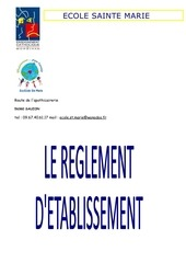 reglement d etablissement 2017