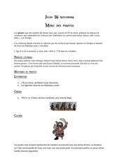menu pirate