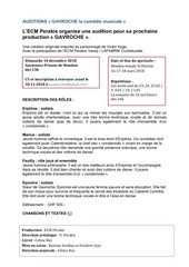 annonce auditions