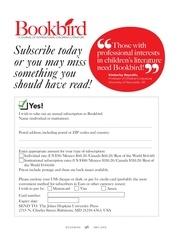 bookbird subscription form