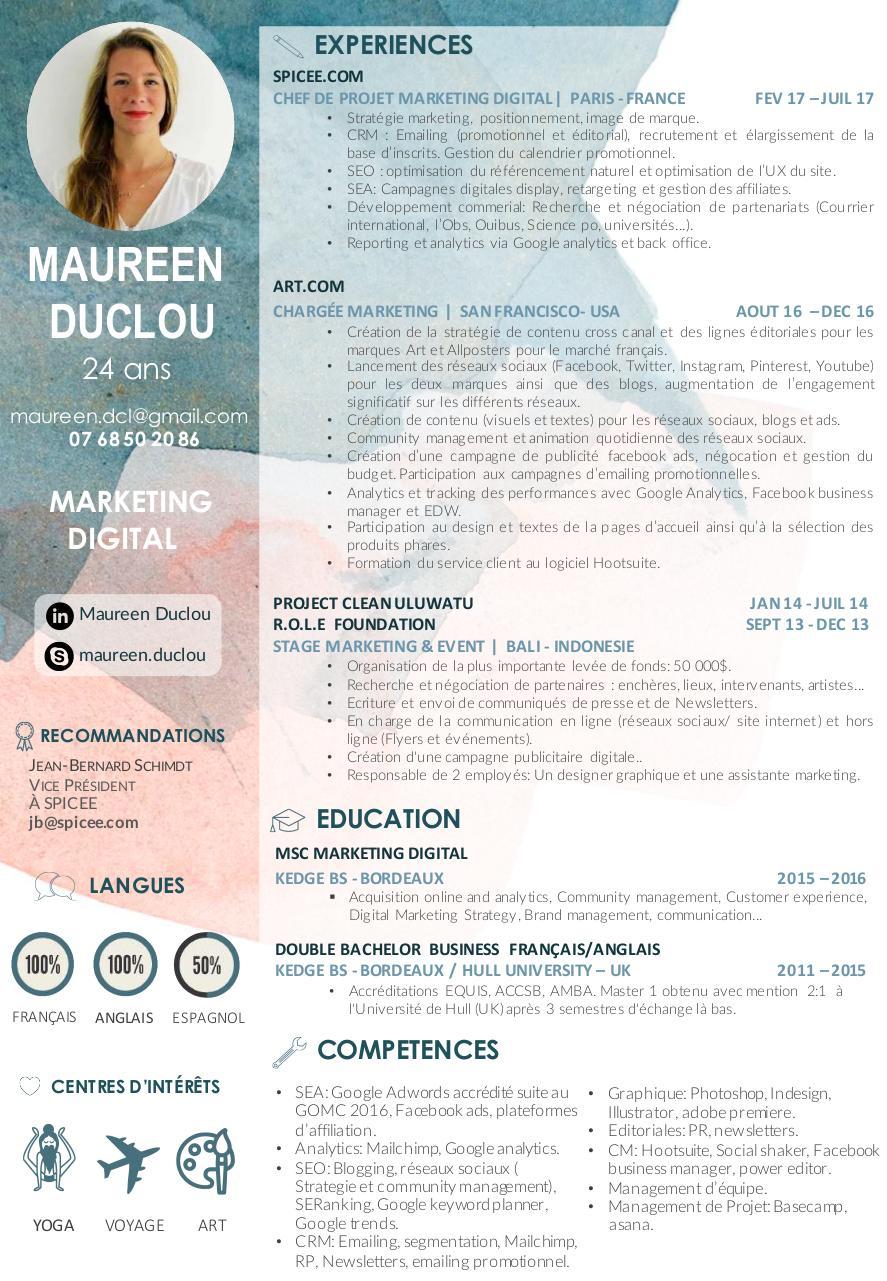 cv v3 - cv maureen duclou pdf